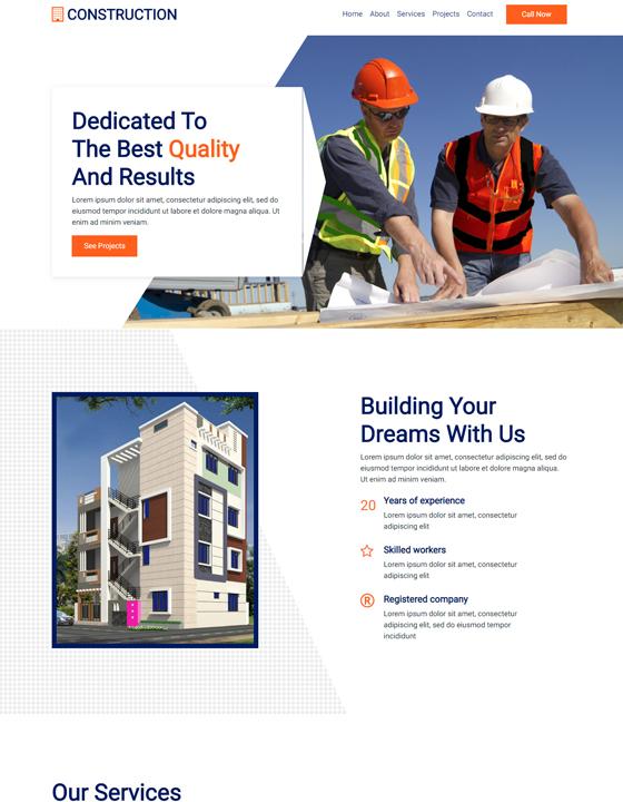 Construction web tem...