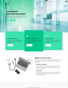 Doctor web template