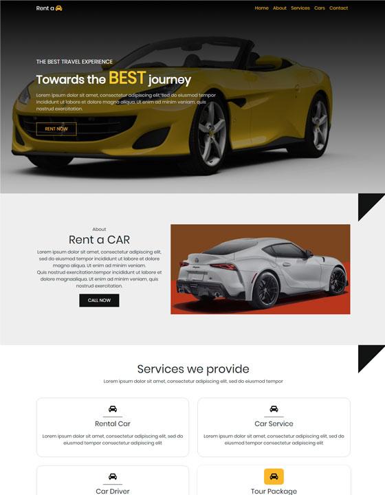 Car Rentals Web temp...