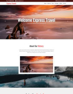Travels web template