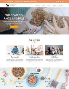 Pets web template